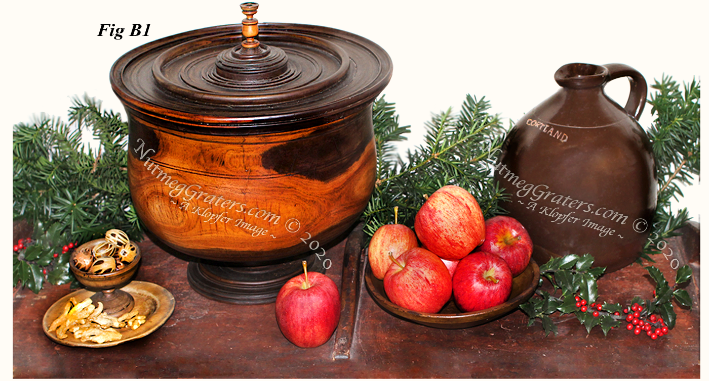 Wassail Bowl with nutmeg grater