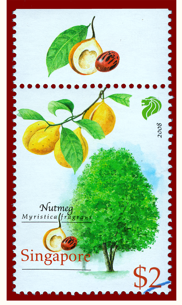Singapore Nutmeg Stamp 2008