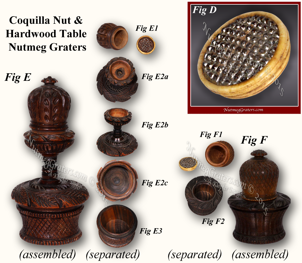 coquilla table graters