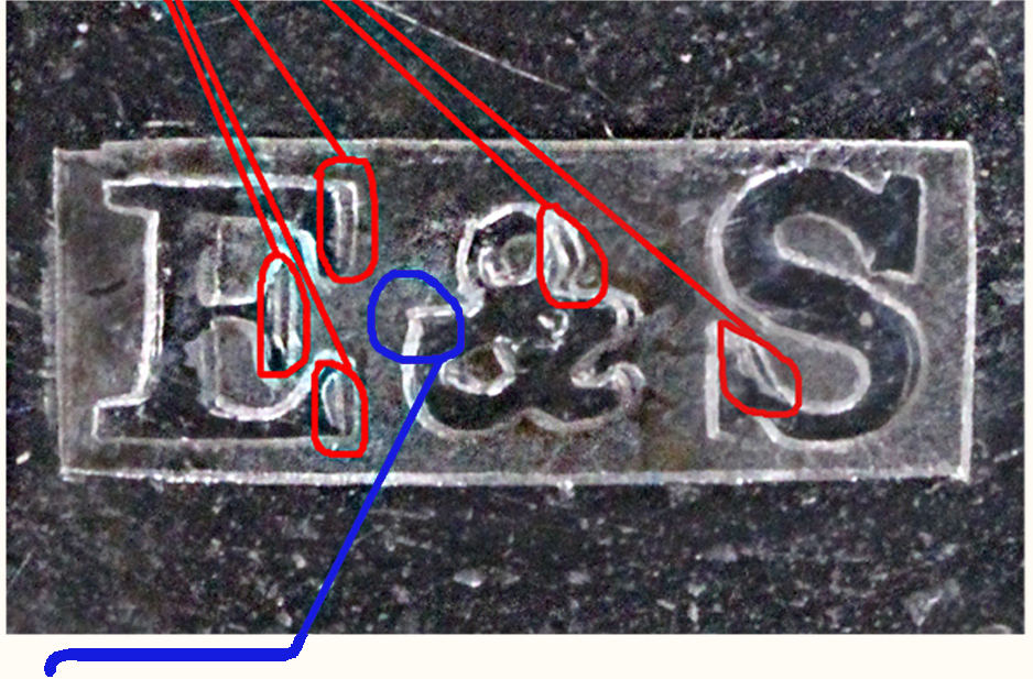 Shepard Maker's Mark Compared With Authenticated Maker's Marks