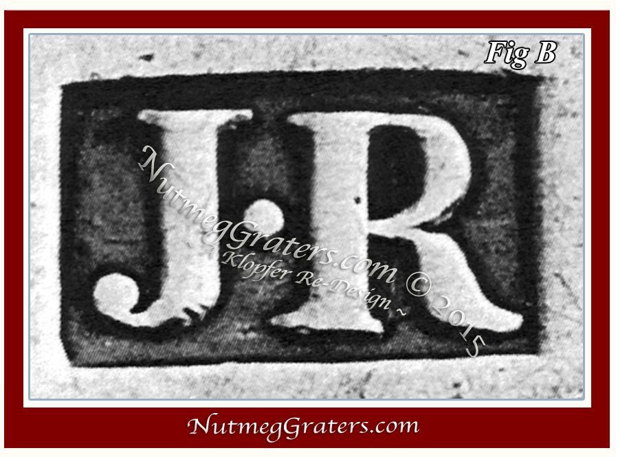 Authenticated maker's mark for Joseph Richardson Jr. of Philadelphia