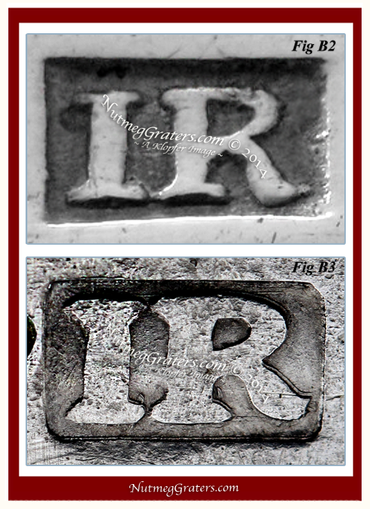Maker's Mark of Joseph Richardson Sr. Philadelphia, Circa 1750