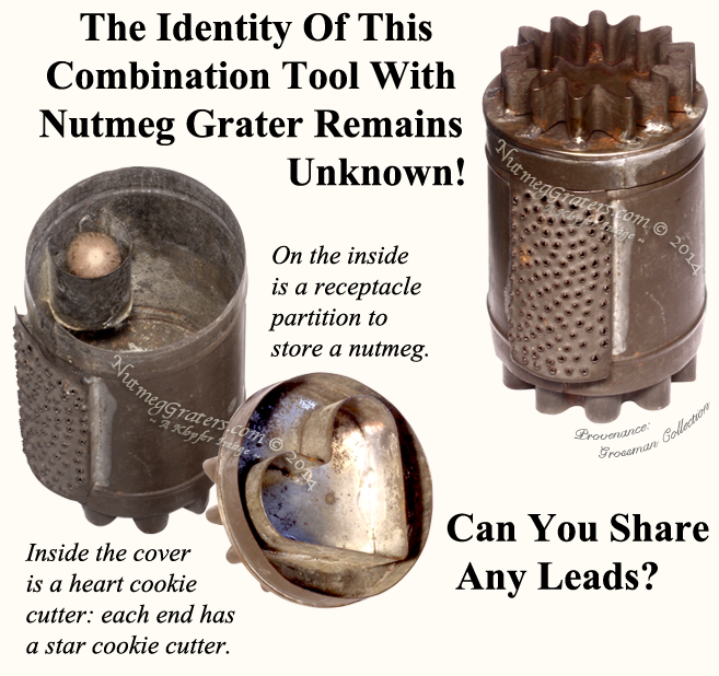 Combination Tool with Nutmeg Grater