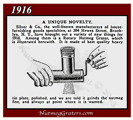Silver's Ad Rotary Nutmeg Grater