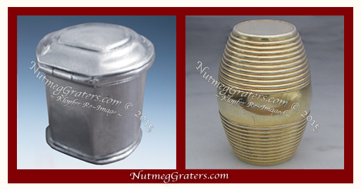 cylindar type and barrel Silver Nutmeg Grater